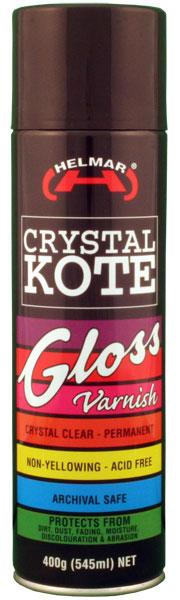 Crystal Kote Gloss Varnish Spray 400g