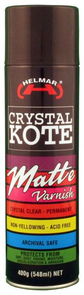 Crystal Kote Matte Varnish Spray 400g
